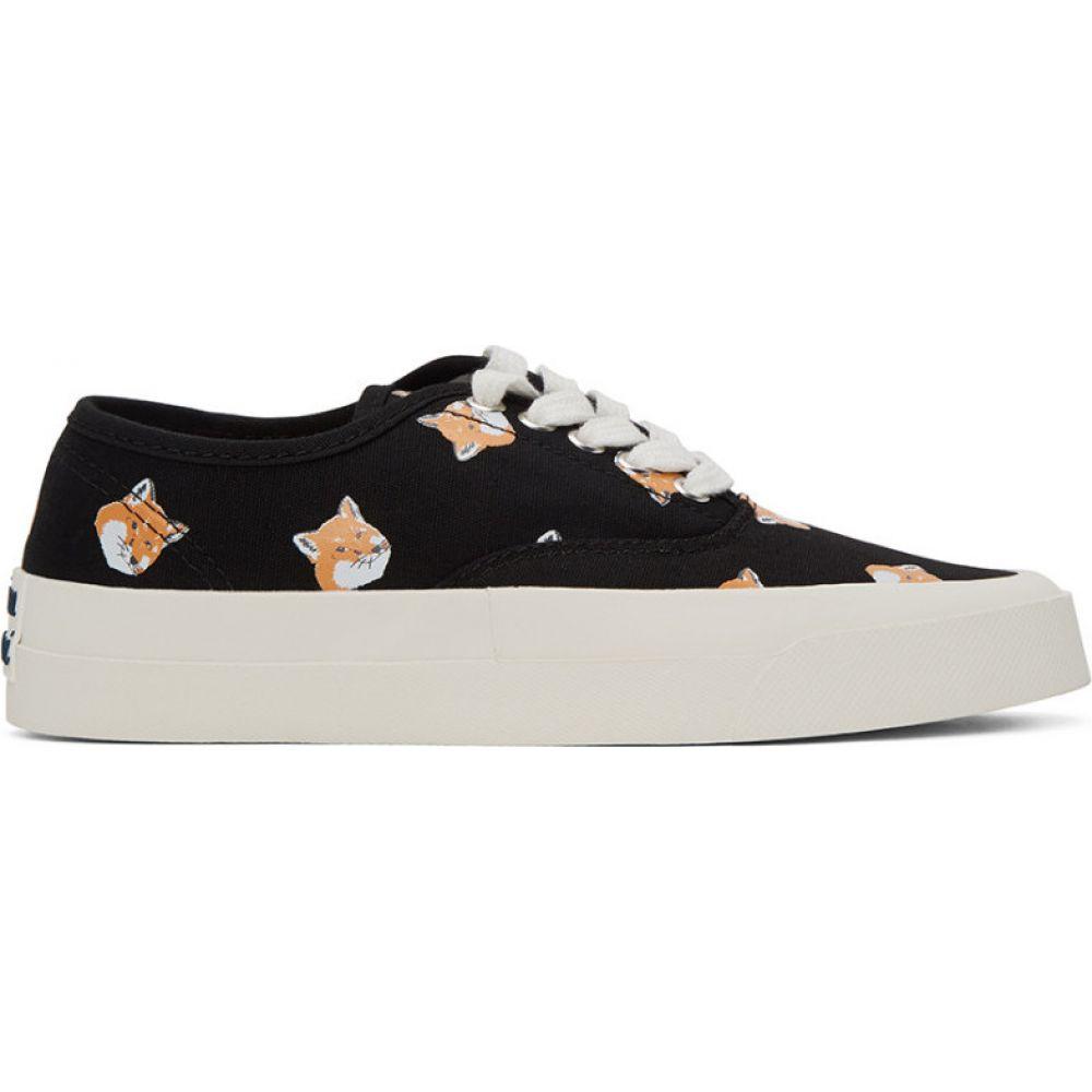 メゾン キツネ Maison Kitsune レディース スニーカー シューズ・靴【Black All Over Fox Laced Sneakers】Black
