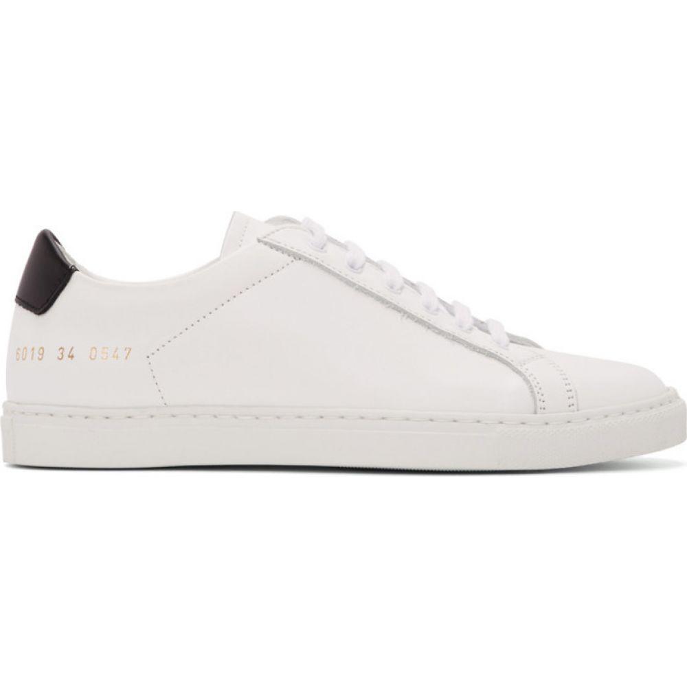 コモン プロジェクト Common Projects レディース スニーカー シューズ・靴【White & Black Retro Low Sneakers】White
