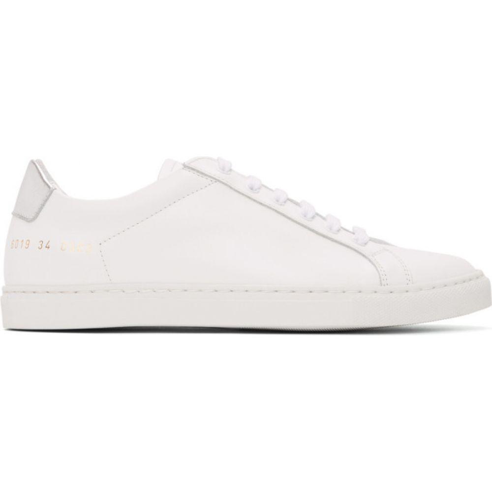 コモン プロジェクト Common Projects レディース スニーカー シューズ・靴【White & Silver Retro Low Sneakers】White