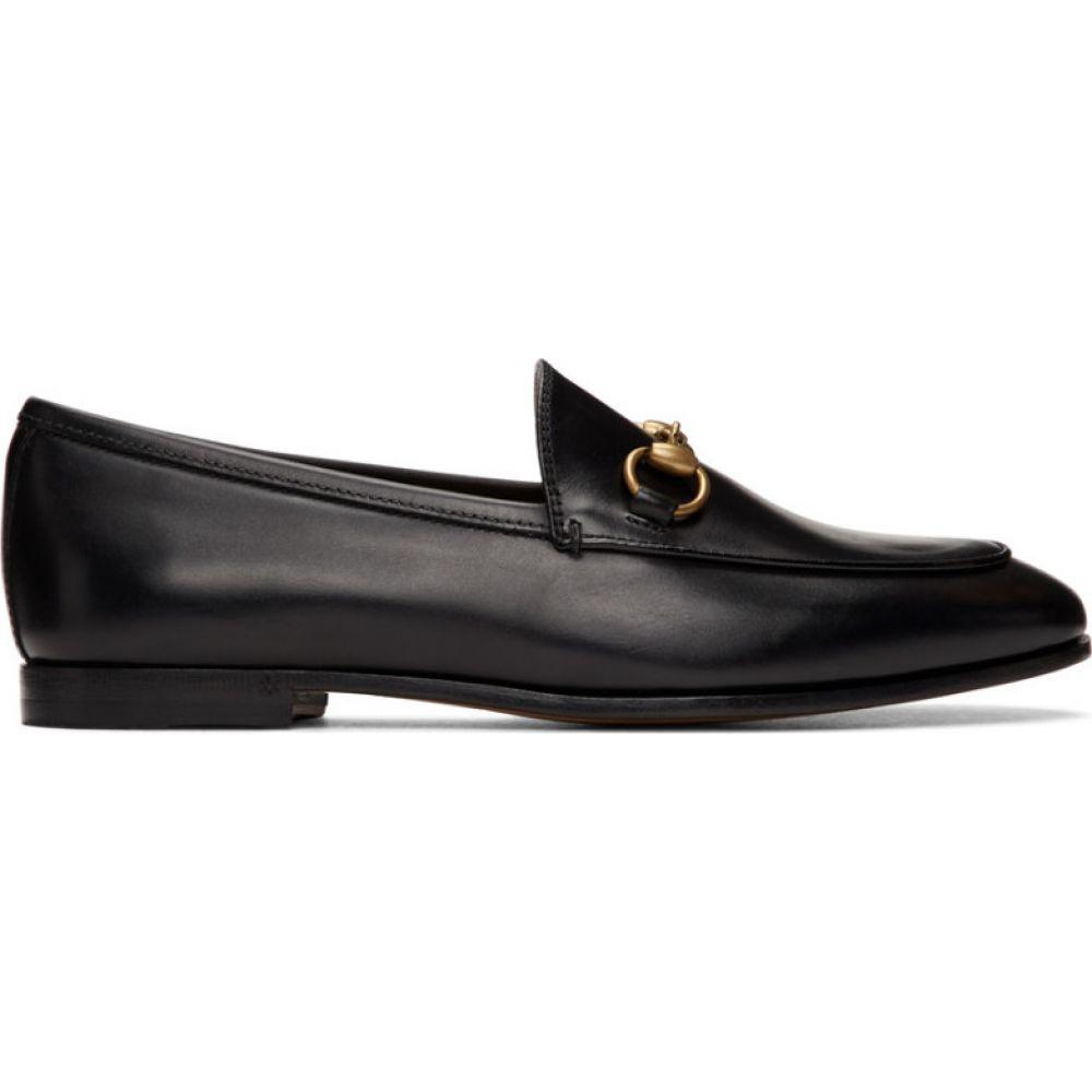 グッチ Gucci レディース ローファー・オックスフォード シューズ・靴【Black Jordaan Loafers】Black