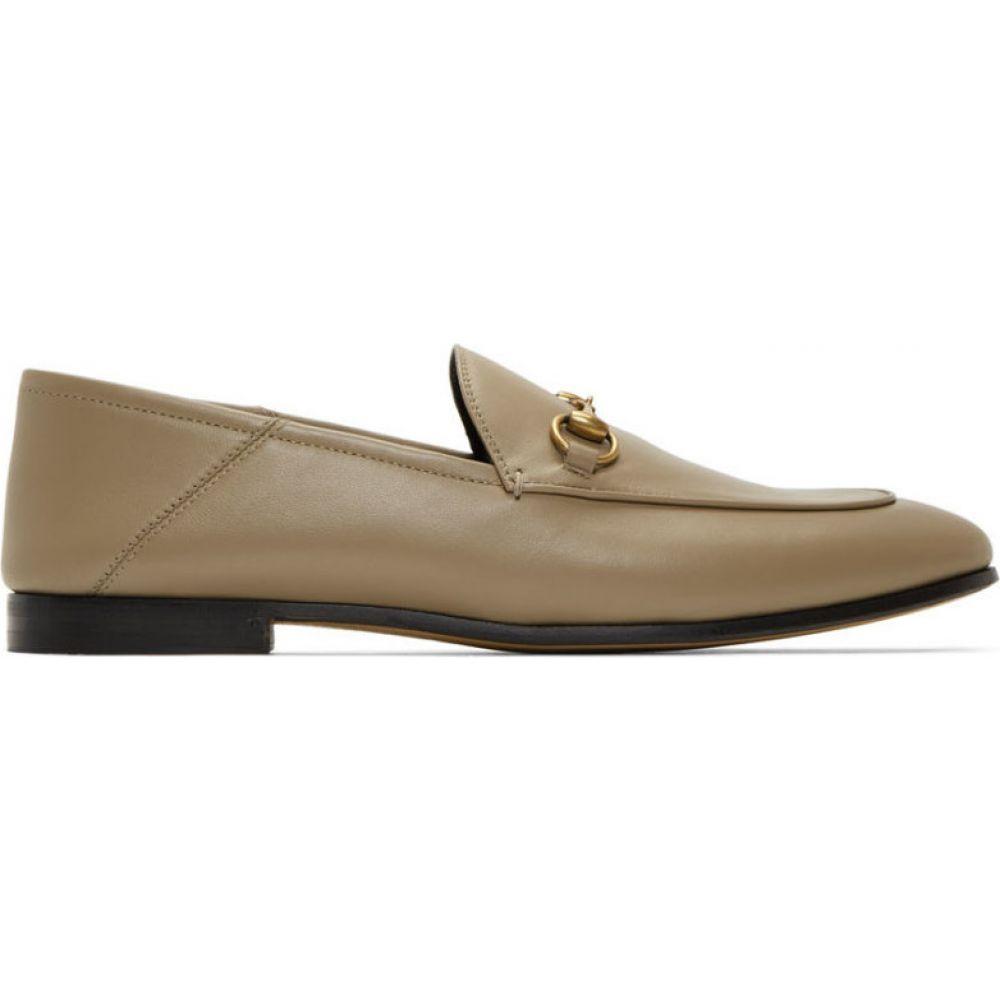 グッチ Gucci レディース ローファー・オックスフォード シューズ・靴【Taupe Brixton Loafers】Mud