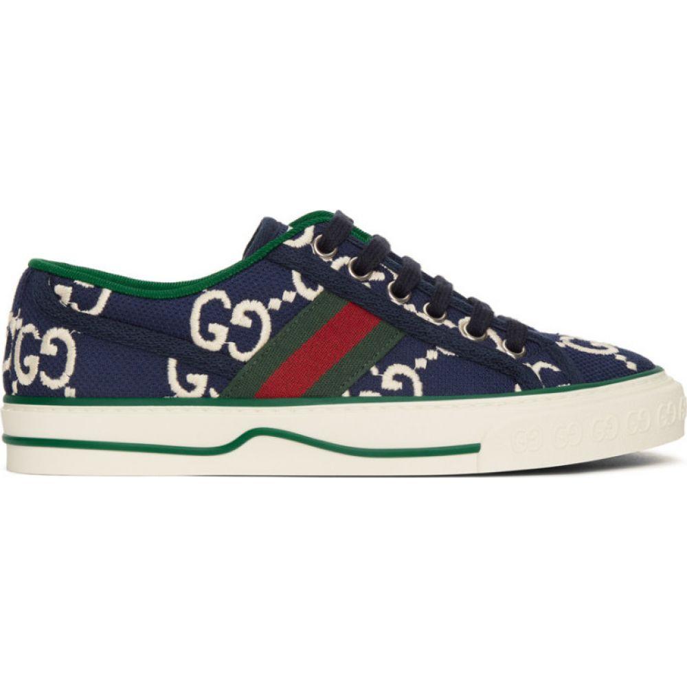 グッチ Gucci レディース スニーカー シューズ・靴【Navy GG 1977 Tennis Sneakers】Navy