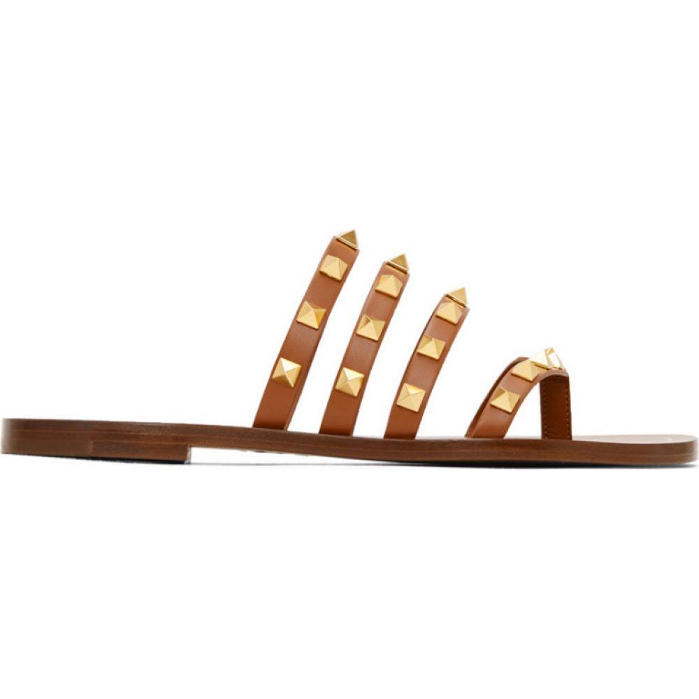 ヴァレンティノ Valentino レディース サンダル・ミュール シューズ・靴【Brown Flair Slip-On Sandals】Brown