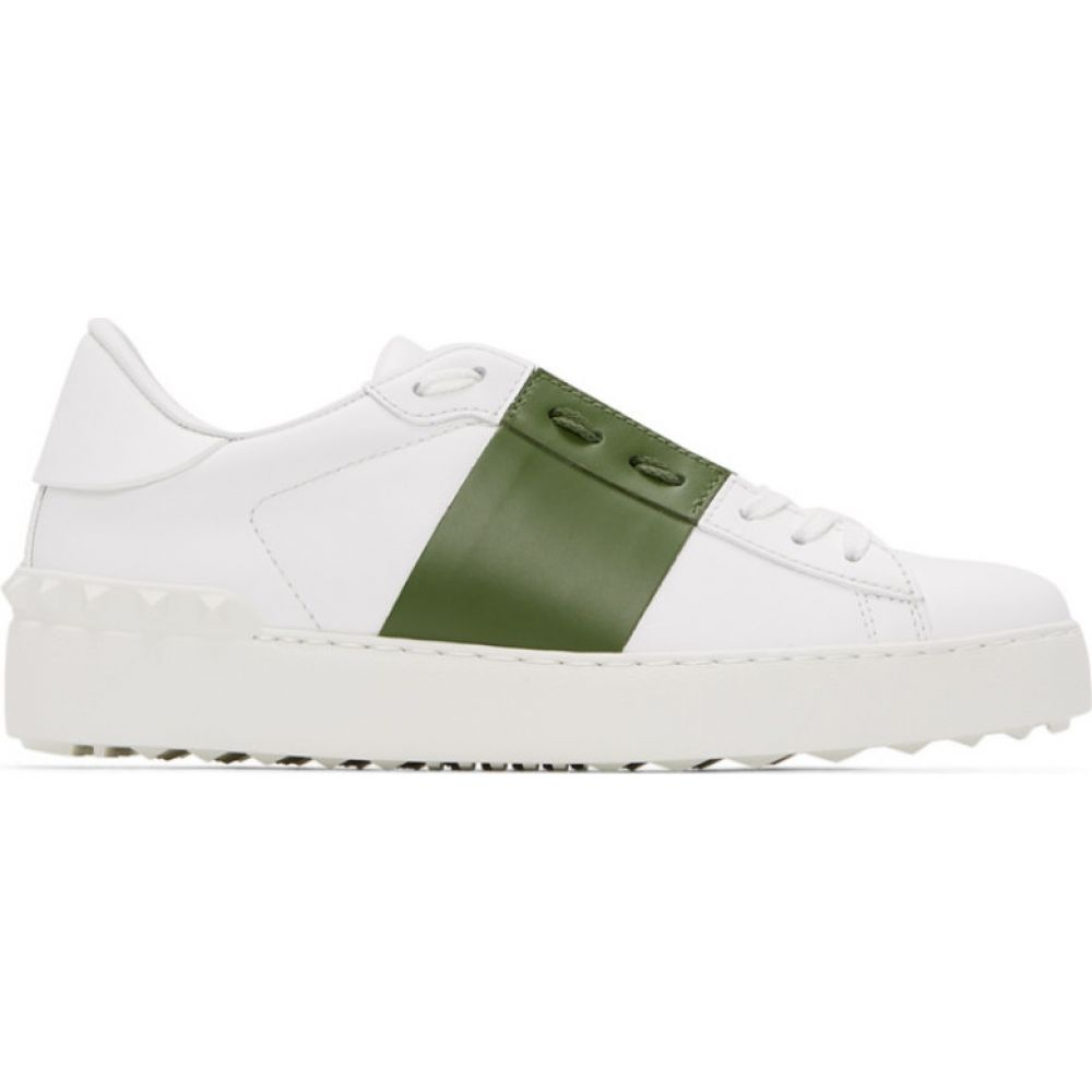 ヴァレンティノ Valentino レディース スニーカー シューズ・靴【White & Green Garavani Open Sneakers】White/Sauvage