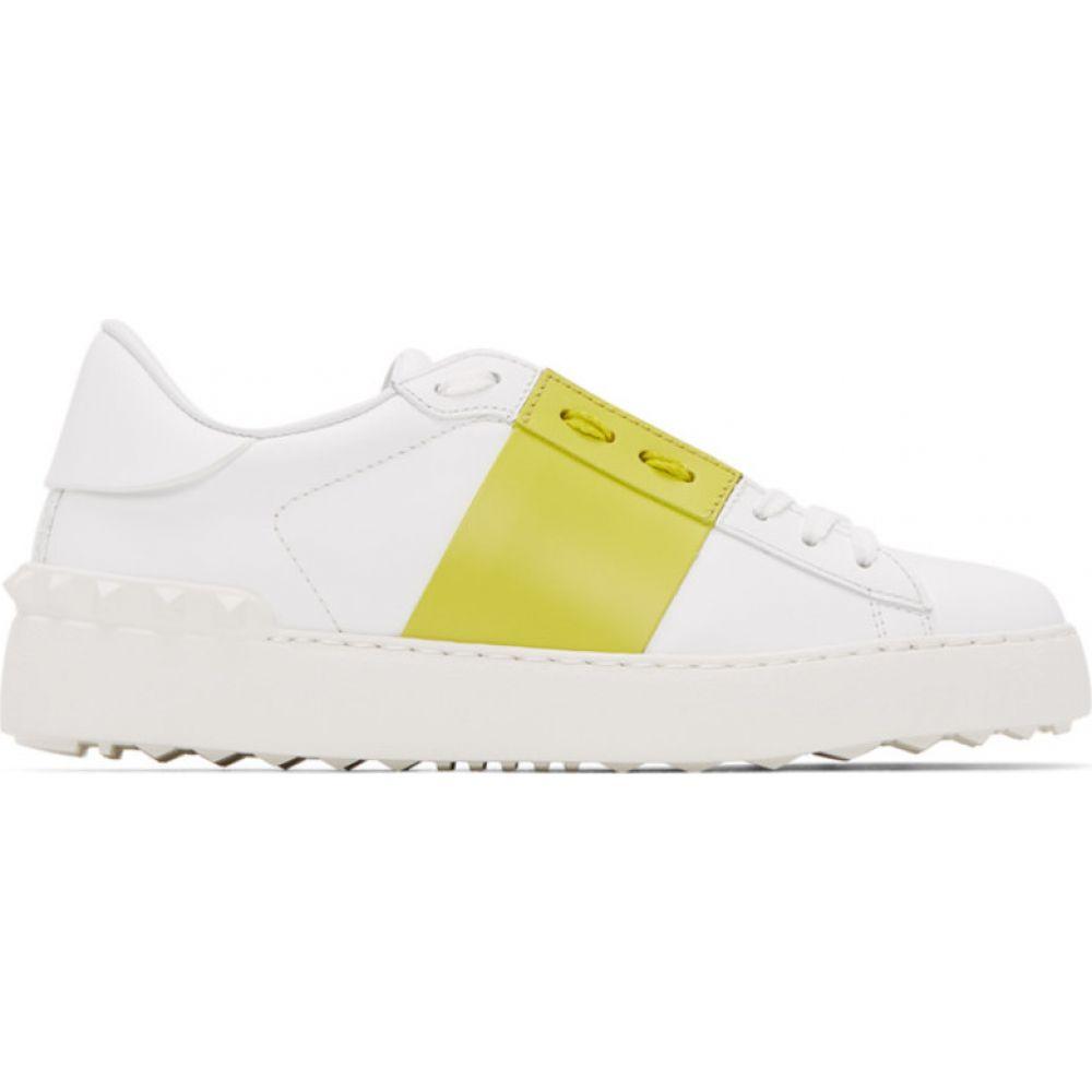 ヴァレンティノ Valentino レディース スニーカー シューズ・靴【White & Green Garavani Open Sneakers】White/Cedar