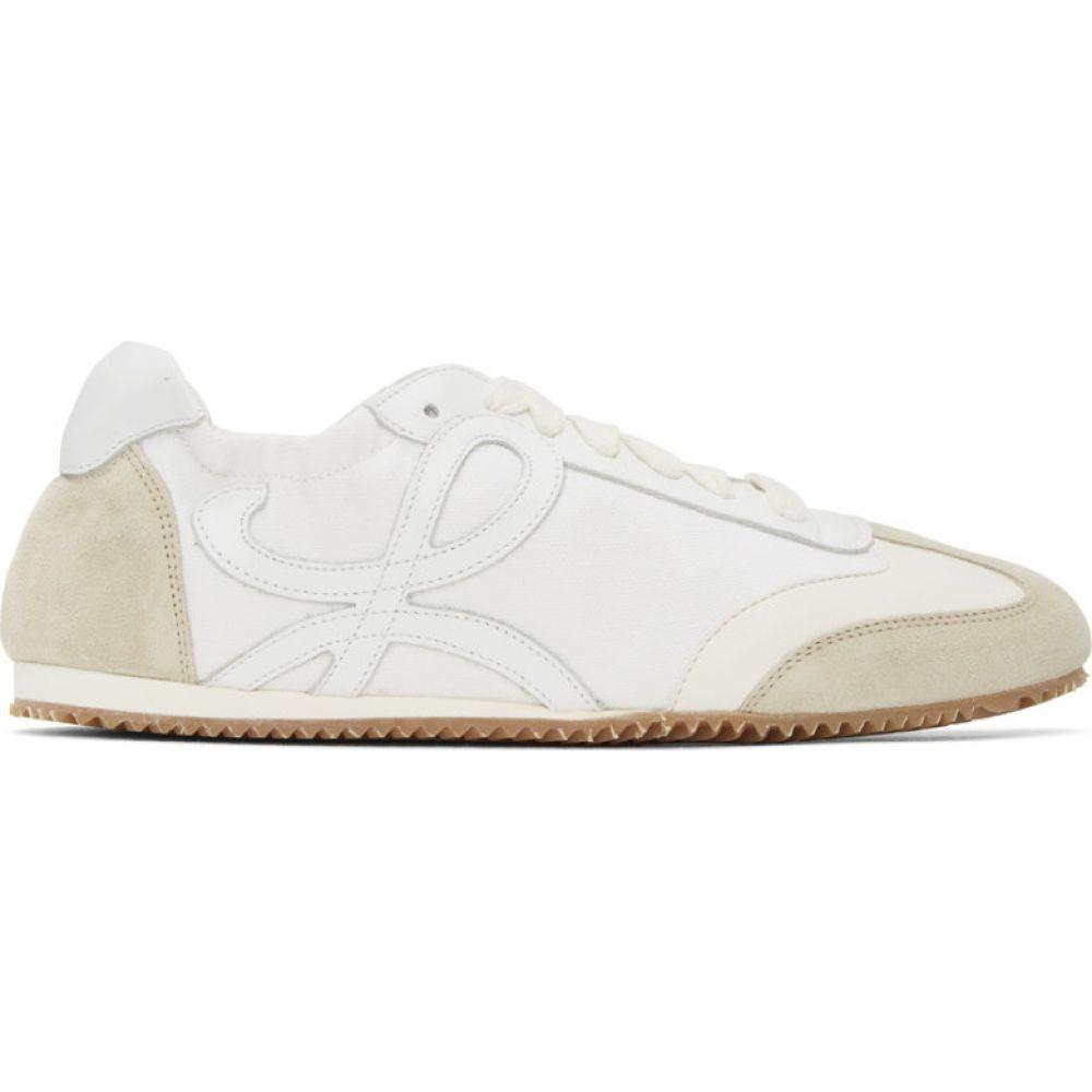 ロエベ Loewe レディース スニーカー シューズ・靴【Off-White & White Ballet Runner Sneakers】Off-white