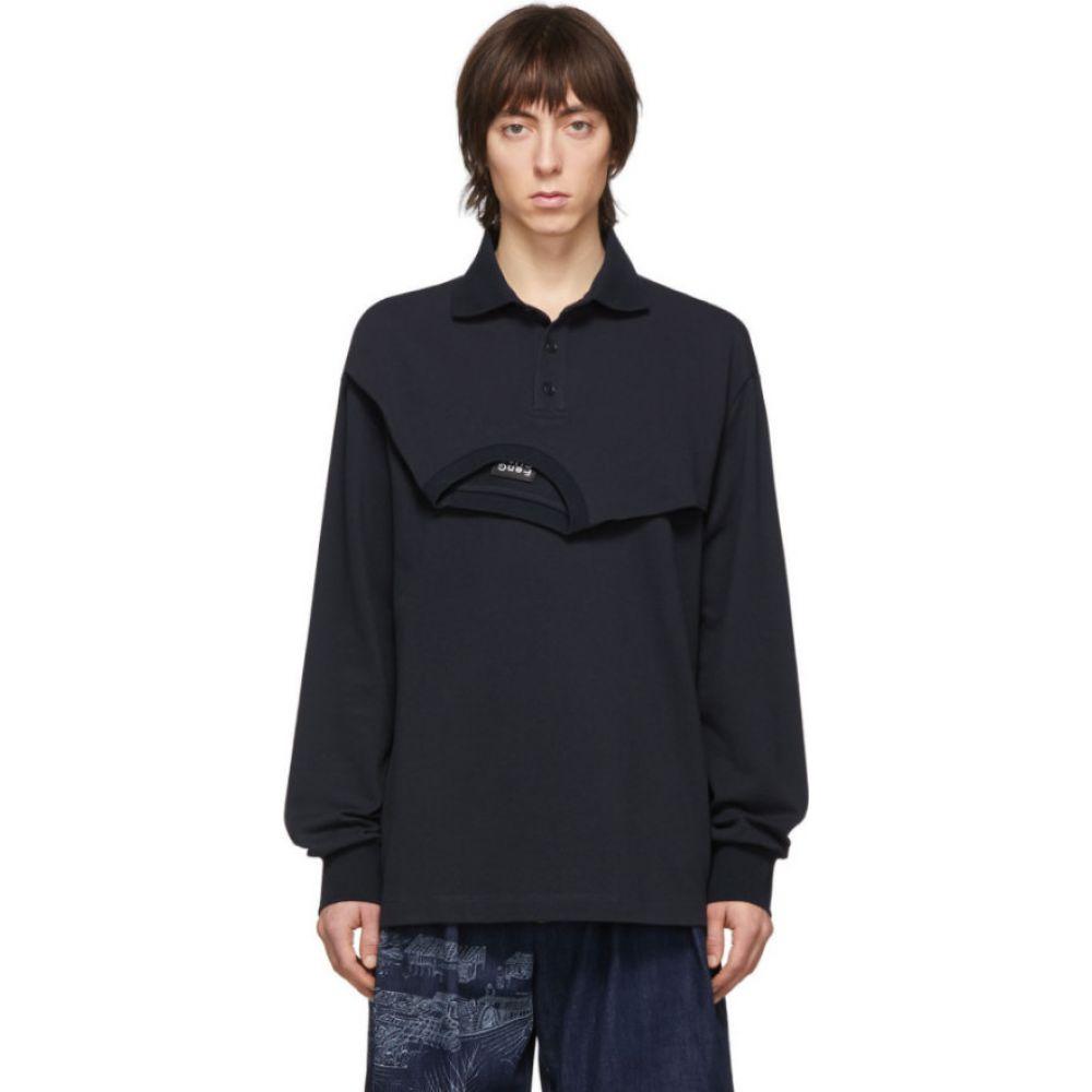 フェン チェン ワン Feng Chen Wang メンズ ポロシャツ トップス【Navy Shirt Polo】Navy