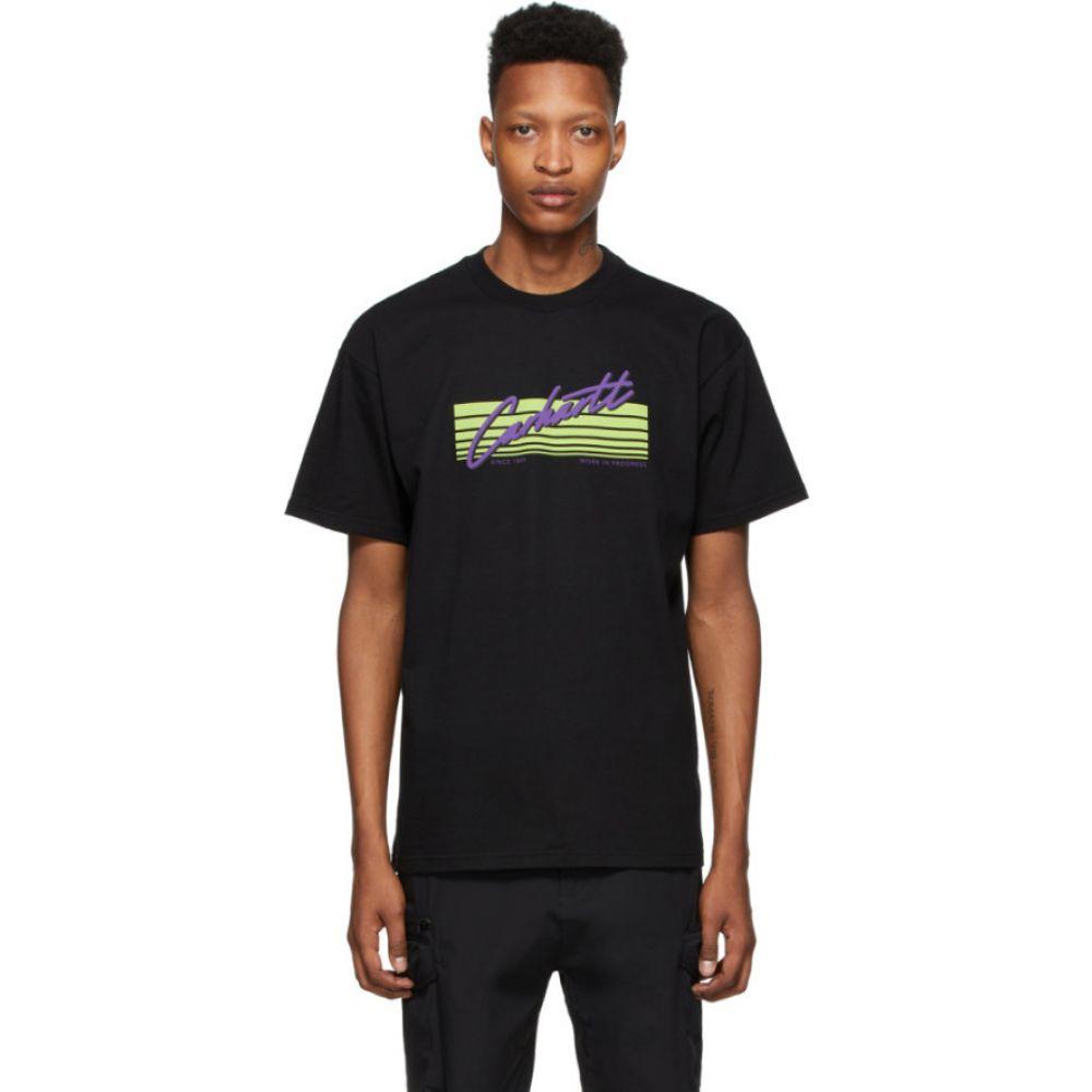 カーハート Carhartt Work In Progress メンズ Tシャツ トップス【Black Horizon Script T-Shirt】Black