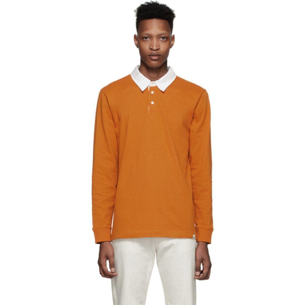 ノースプロジェクト Norse Projects メンズ ポロシャツ トップス【Orange Ruben Polo】Cadmium orange