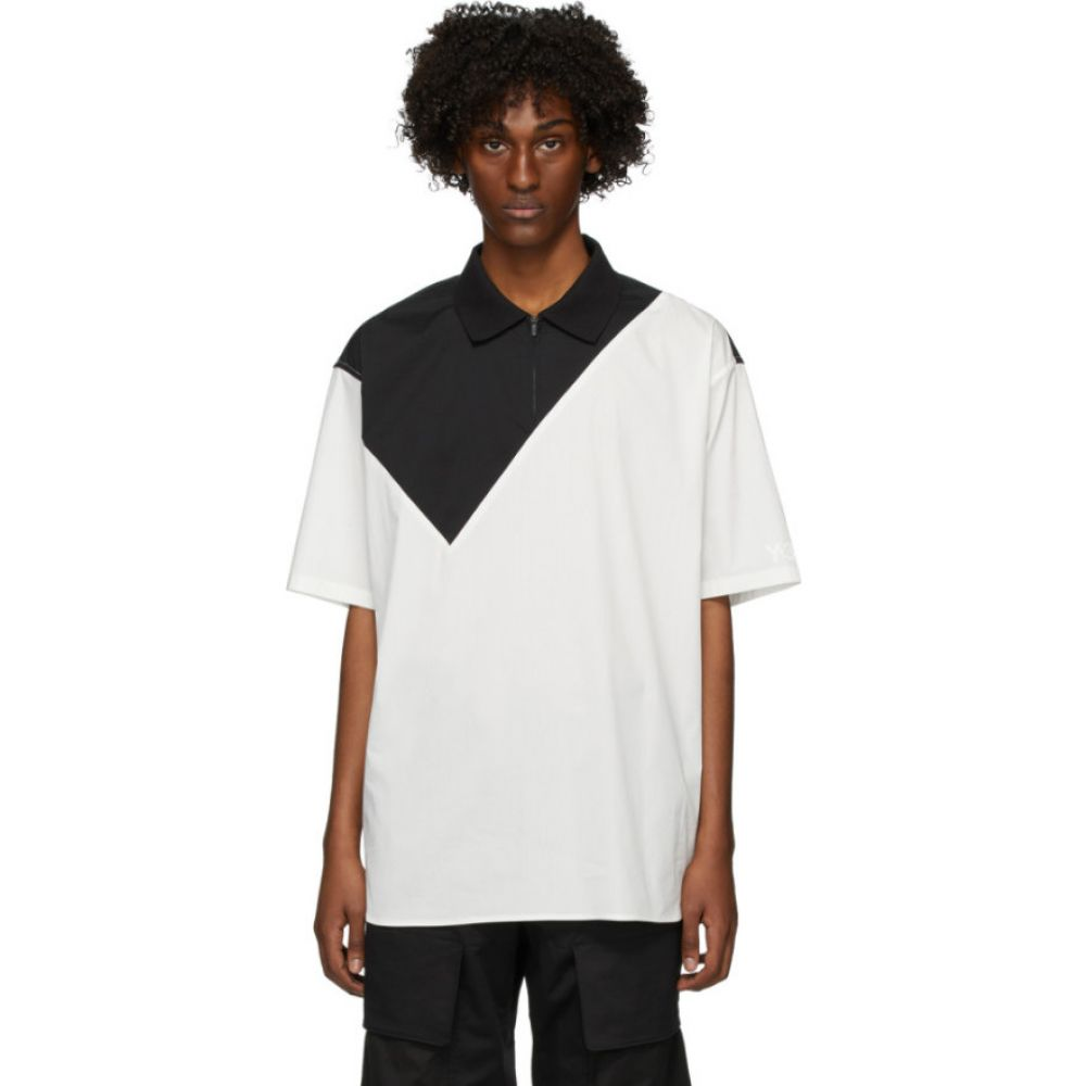 ワイスリー Y-3 メンズ ポロシャツ トップス【Black & White Poplin Polo】Core white/Black
