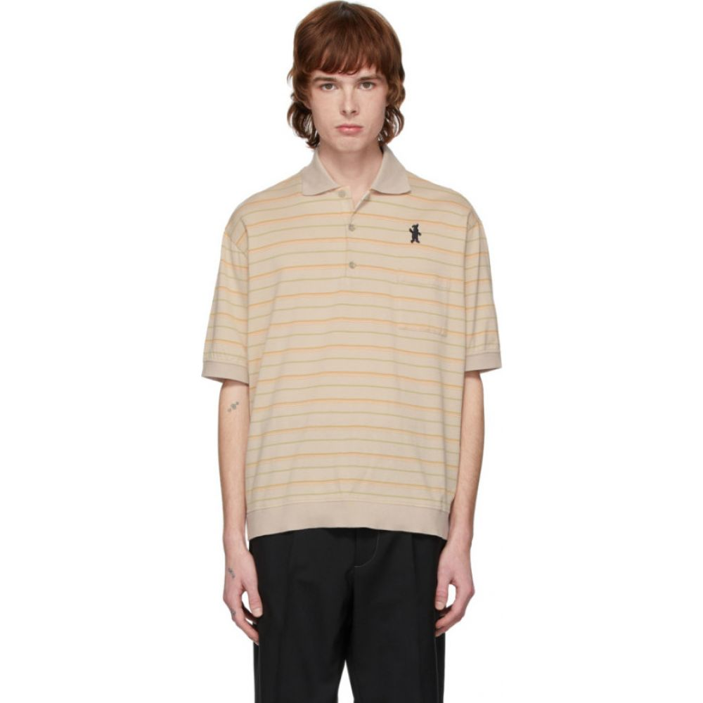 マルニ Marni メンズ ポロシャツ トップス【Beige Jersey Striped Polo】Beige