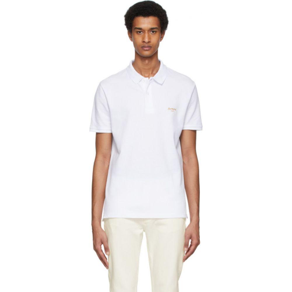 ハーモニー Harmony メンズ ポロシャツ トップス【White Cursive Logo Polo】White