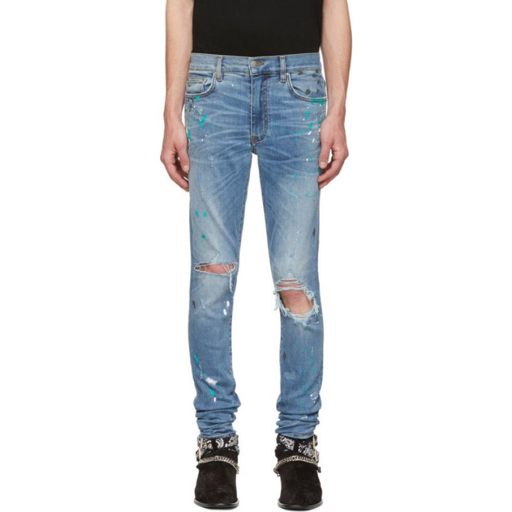 アミリ Amiri メンズ ジーンズ・デニム ボトムス・パンツ【Blue Paint Splatter Jeans】Rosebowl