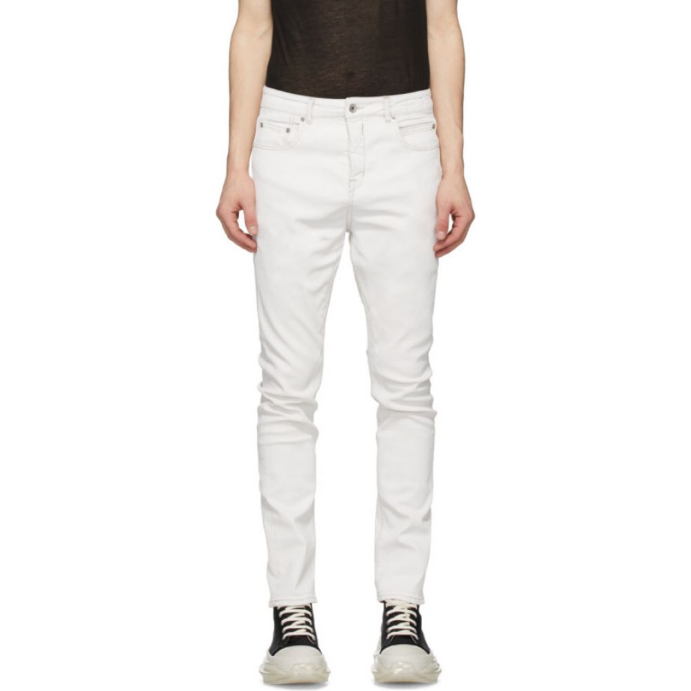 リック オウエンス Rick Owens Drkshdw メンズ ジーンズ・デニム ボトムス・パンツ【White Detroit Cut Jeans】White wax