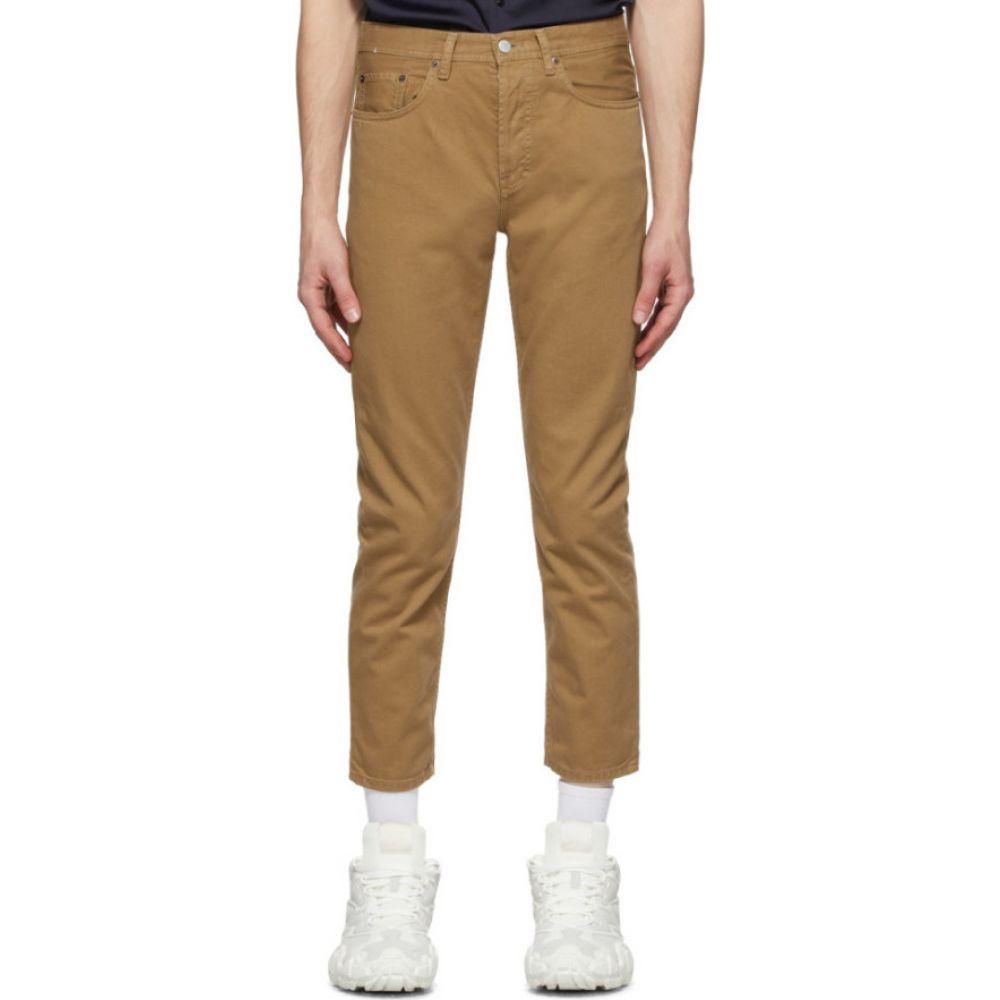 アクネ ストゥディオズ Acne Studios メンズ ジーンズ・デニム ボトムス・パンツ【Brown Cotton Twill Jeans】Caramel brown