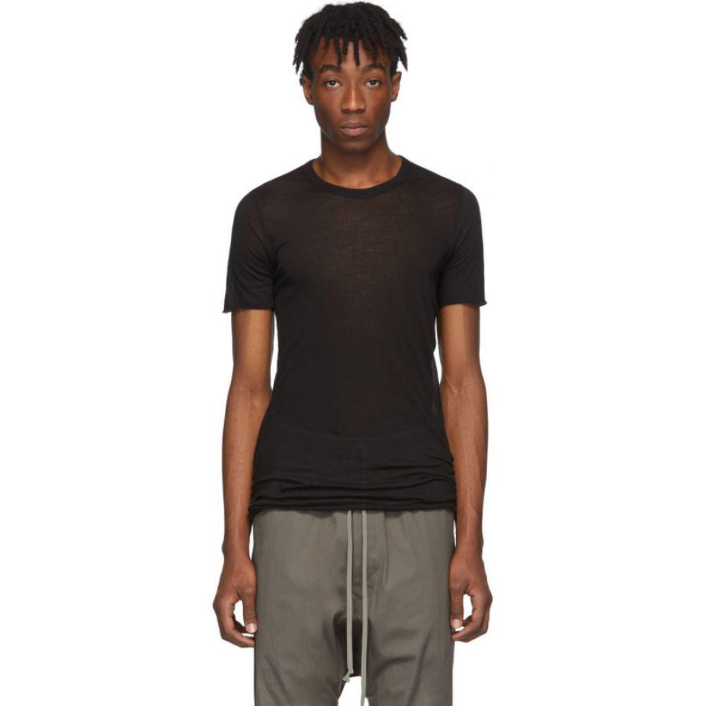 リック オウエンス Rick Owens メンズ Tシャツ トップス【Black Basic T-Shirt】Black
