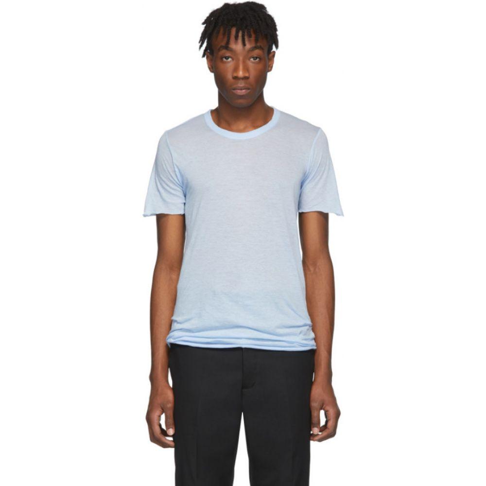 リック オウエンス Rick Owens メンズ Tシャツ トップス【Blue Basic T-Shirt】Powder blue