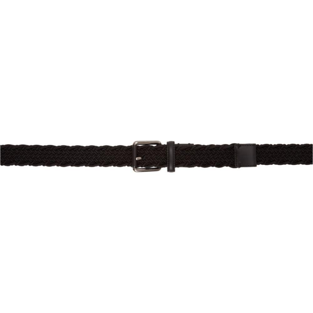 エルメネジルド ゼニア Ermenegildo Zegna メンズ ベルト 【Black Woven Triple XXX Belt】Black