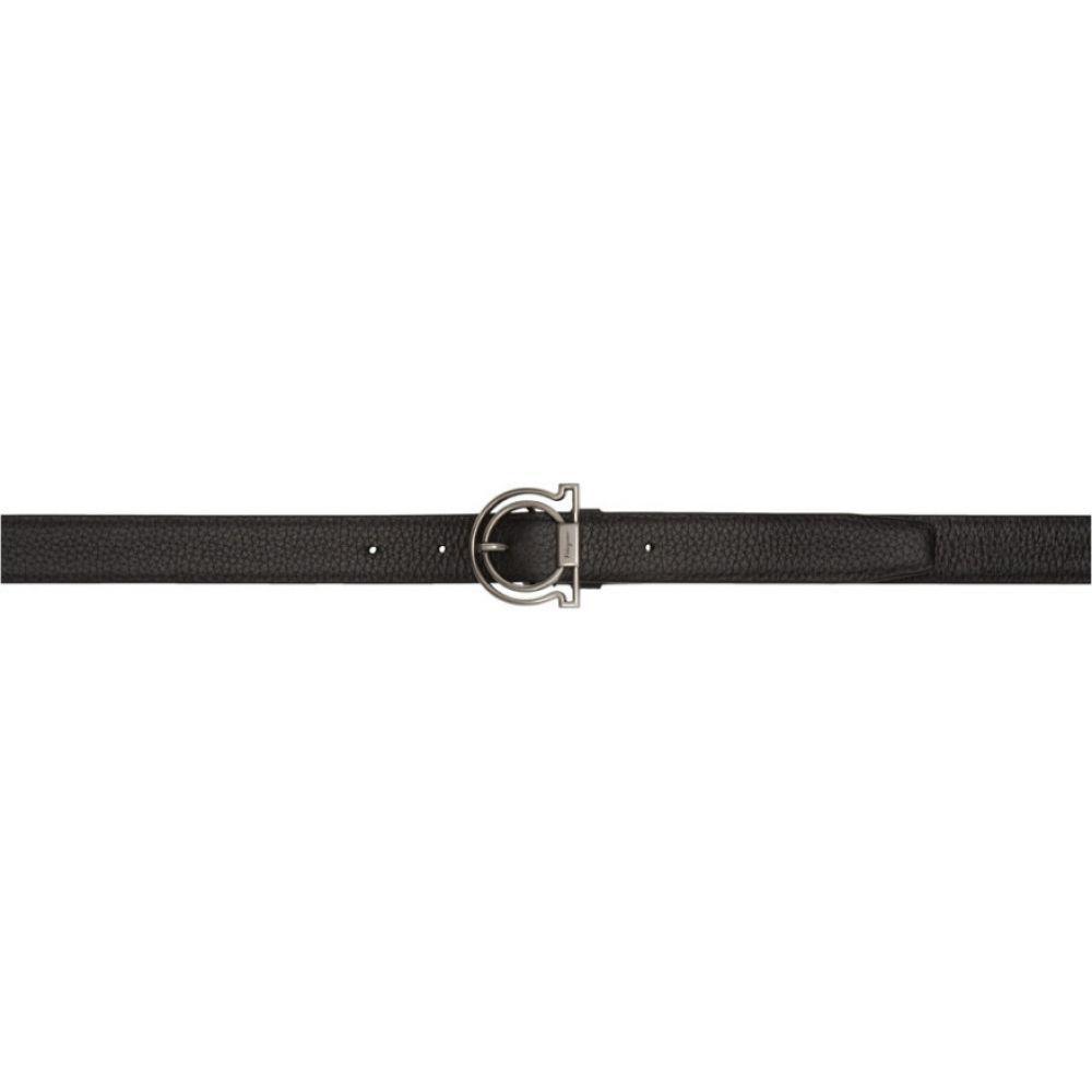 サルヴァトーレ フェラガモ Salvatore Ferragamo メンズ ベルト 【Black Deerskin Gancini Belt】Black