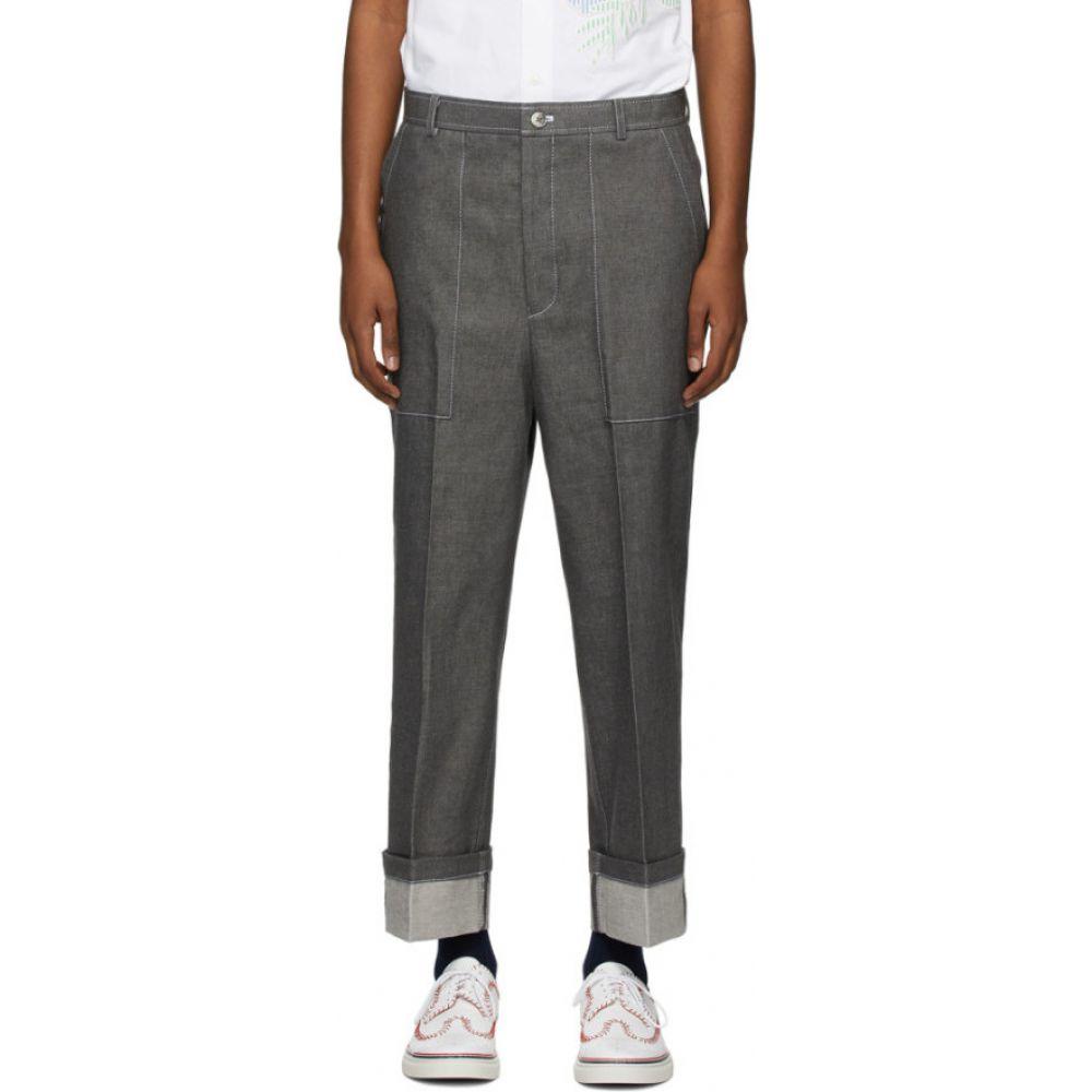 トム ブラウン Thom Browne メンズ ジーンズ・デニム ボトムス・パンツ【Grey Patch Pocket Jeans】Medium grey