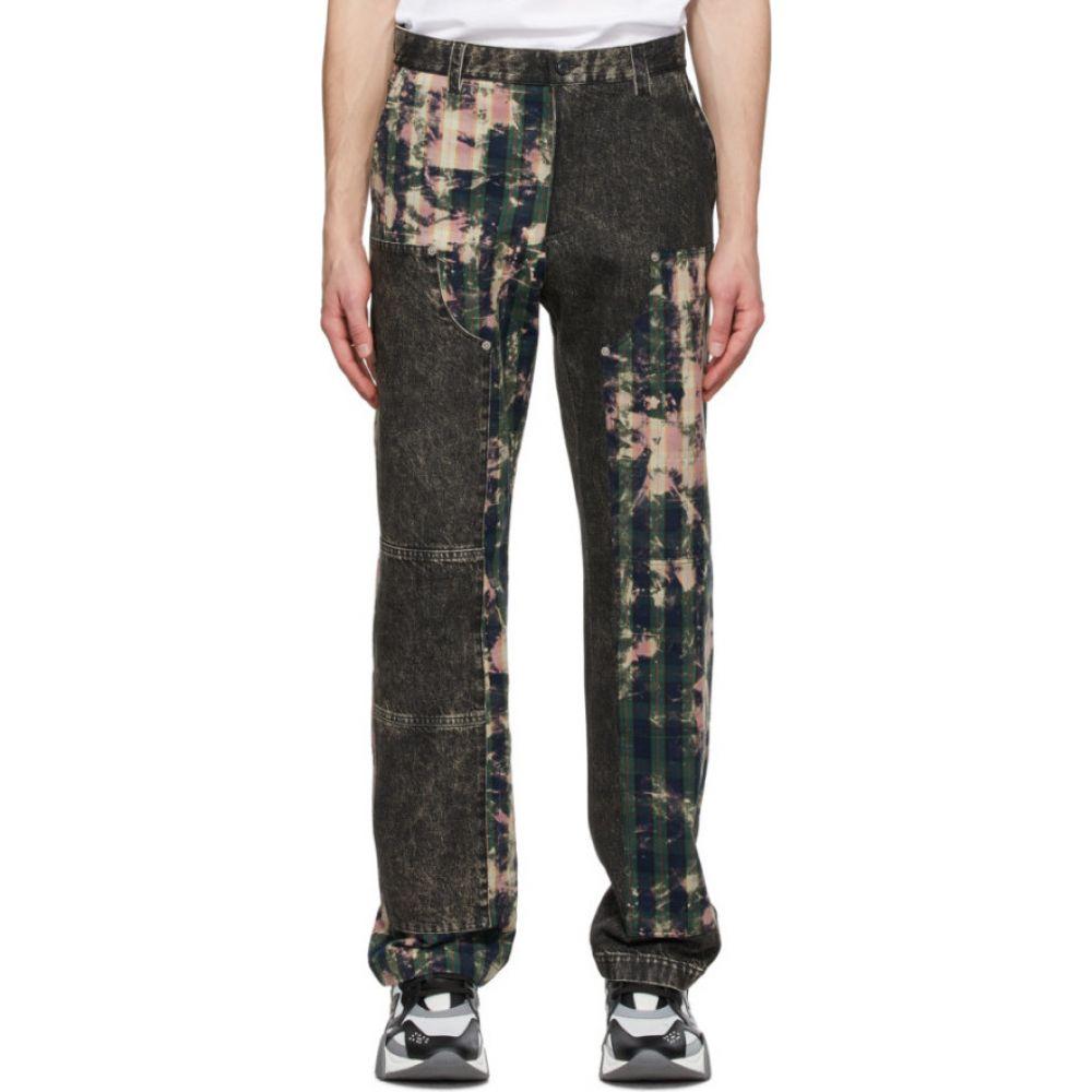 ヴェルサーチ Versace メンズ ジーンズ・デニム ボトムス・パンツ【Grey Tartan Motif Jeans】Print
