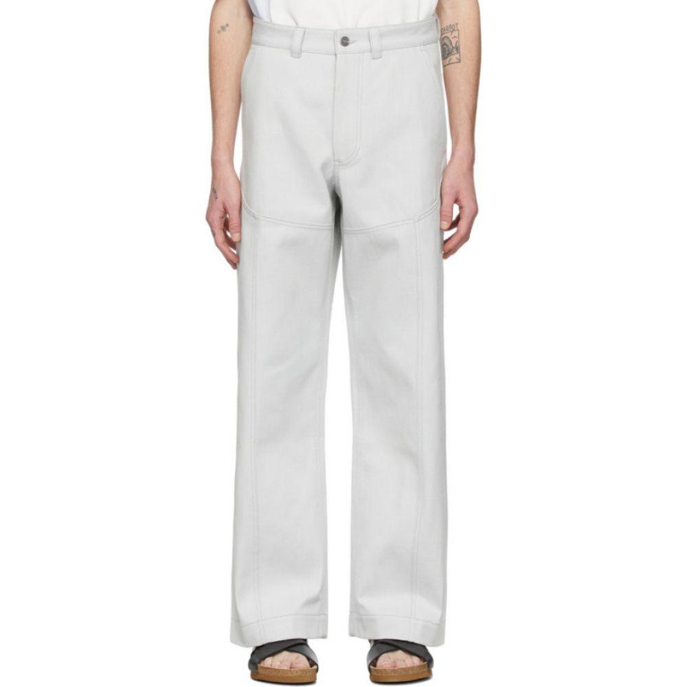 ジャックムス Jacquemus メンズ ジーンズ・デニム ボトムス・パンツ【Off-White 'Le Pantalon Terraio' Trousers】Grey/White