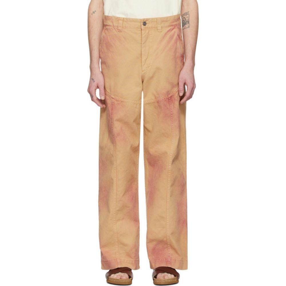 ジャックムス Jacquemus メンズ ボトムス・パンツ 【Beige & Red 'Le Pantalon Terraio' Trousers】Orange