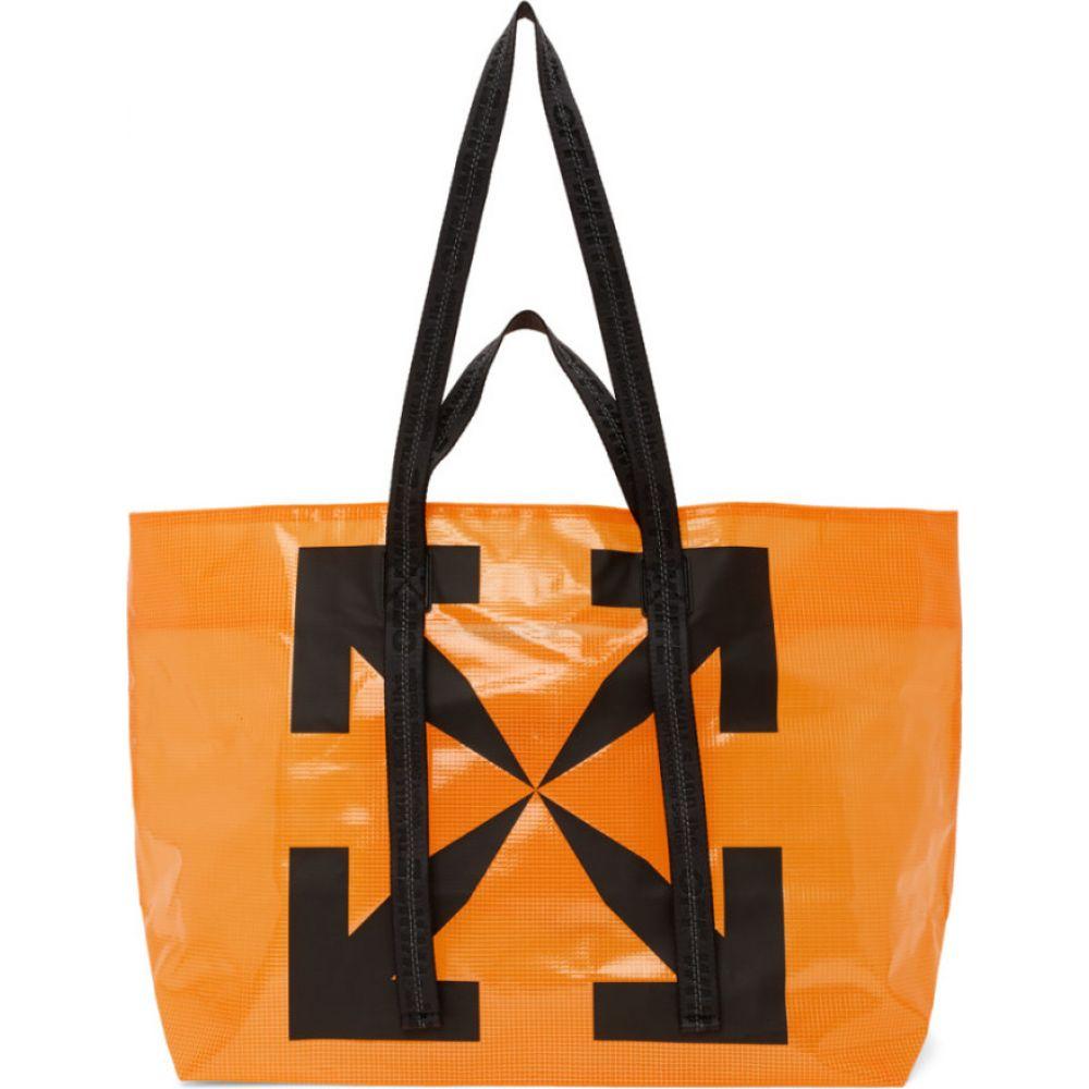 オフホワイト Off-White メンズ トートバッグ バッグ【Orange Arrows Tyvek Tote】Orange/Black