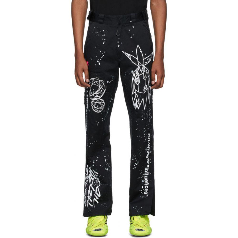 オフホワイト Off-White メンズ ジーンズ・デニム ボトムス・パンツ【Black & White Futura Edition Alien Carpenter Jeans】Black/White