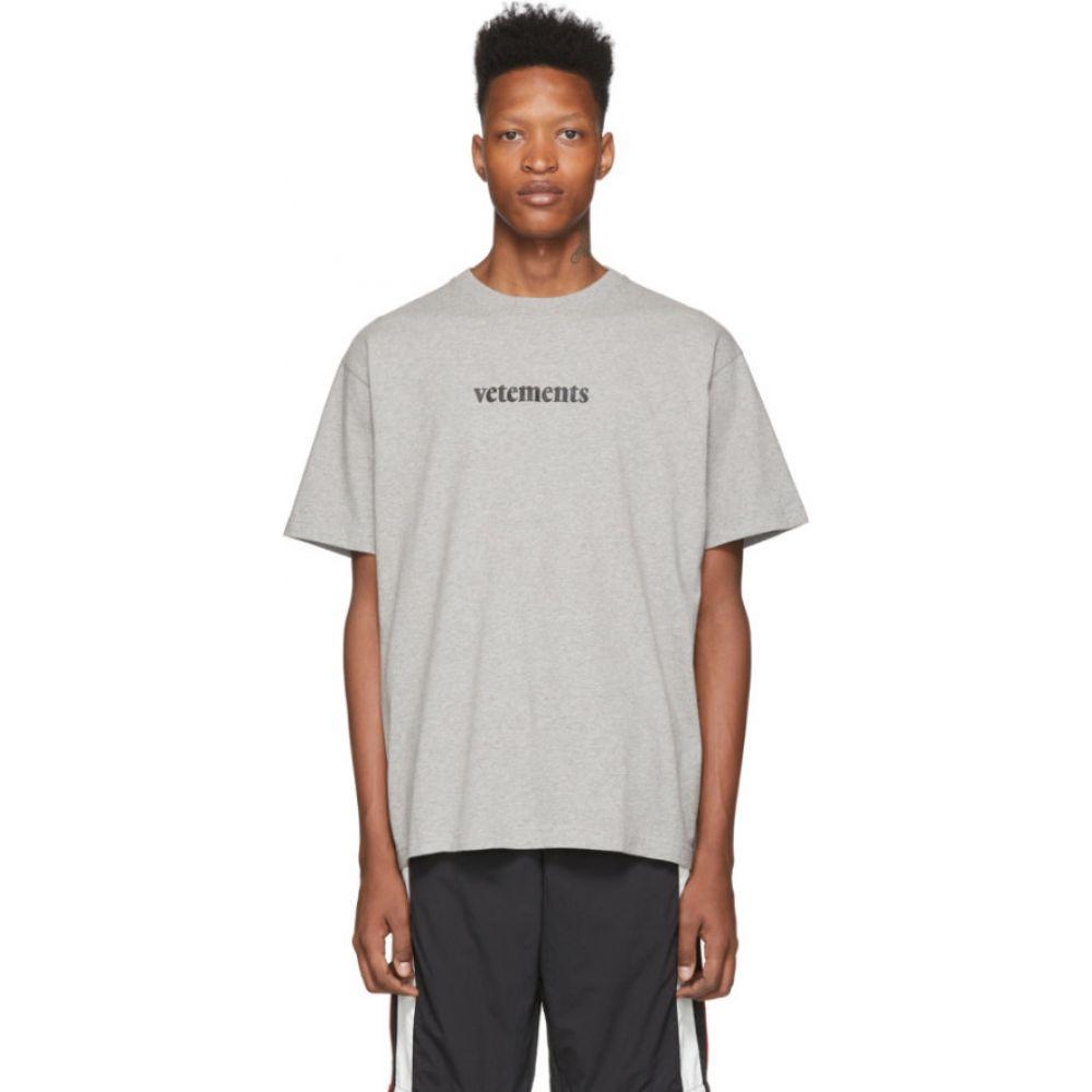 ヴェトモン VETEMENTS メンズ Tシャツ トップス【Grey Postage T-Shirt】Grey melange