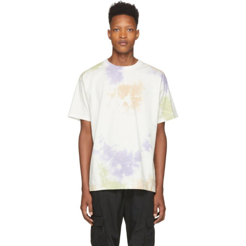ジョン エリオット John Elliott メンズ Tシャツ トップス【White University T-Shirt】Balboa ink bloom