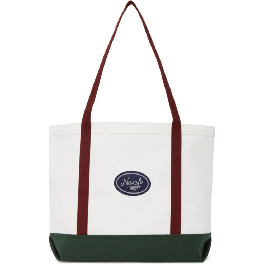 ノア Noah NYC メンズ トートバッグ バッグ【White Colorblocked Tote】White/Navy/Burgundy/Forest