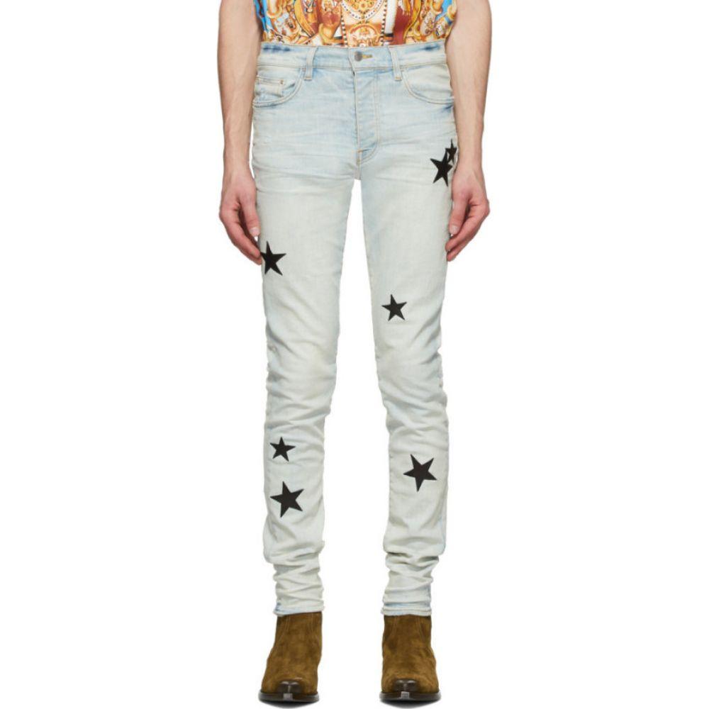 アミリ Amiri メンズ ジーンズ・デニム ボトムス・パンツ【Blue Leather Stars Stack Jeans】Bone indigo