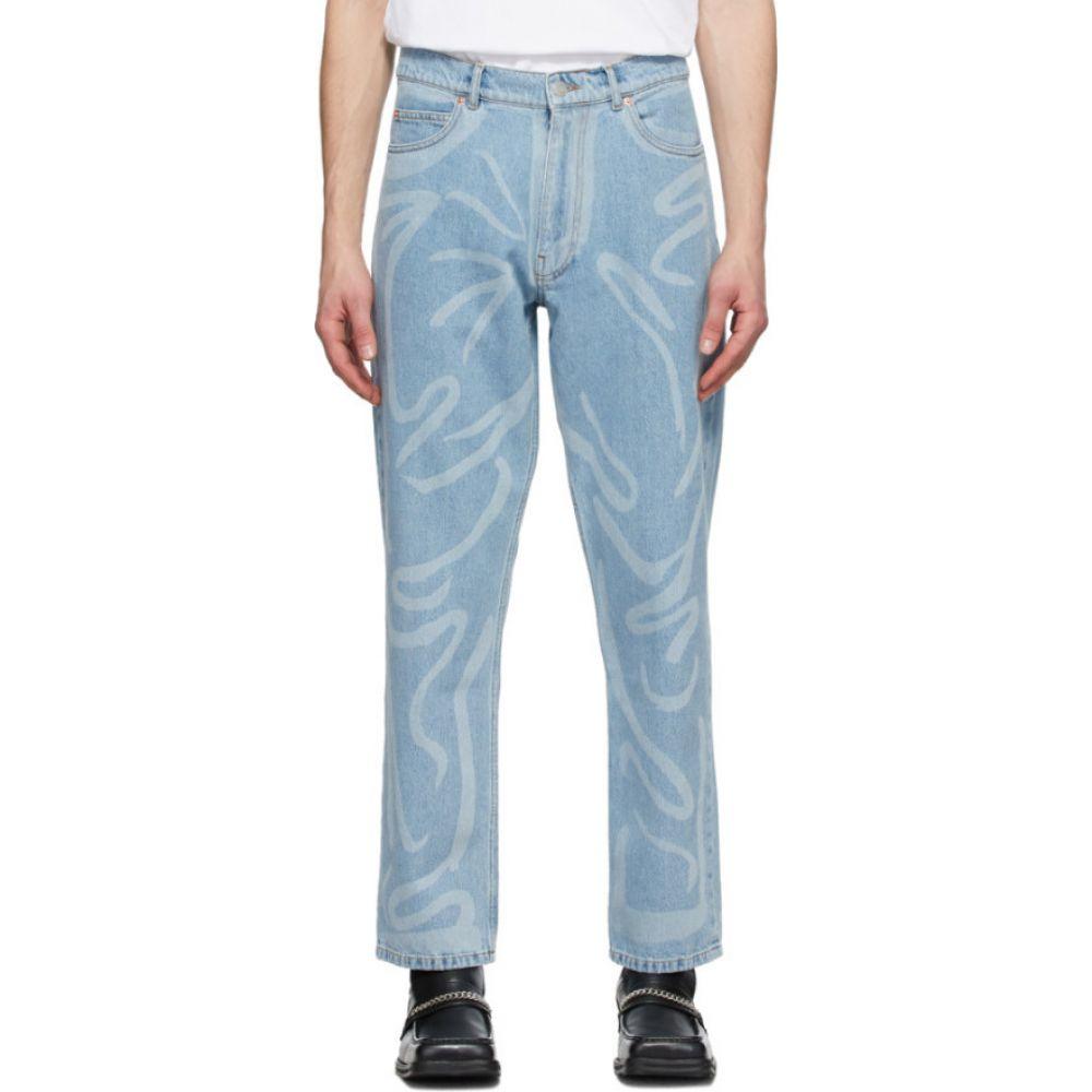 マーティン ローズ Martine Rose メンズ ジーンズ・デニム ボトムス・パンツ【Blue Paint Stroke Jeans】Blue