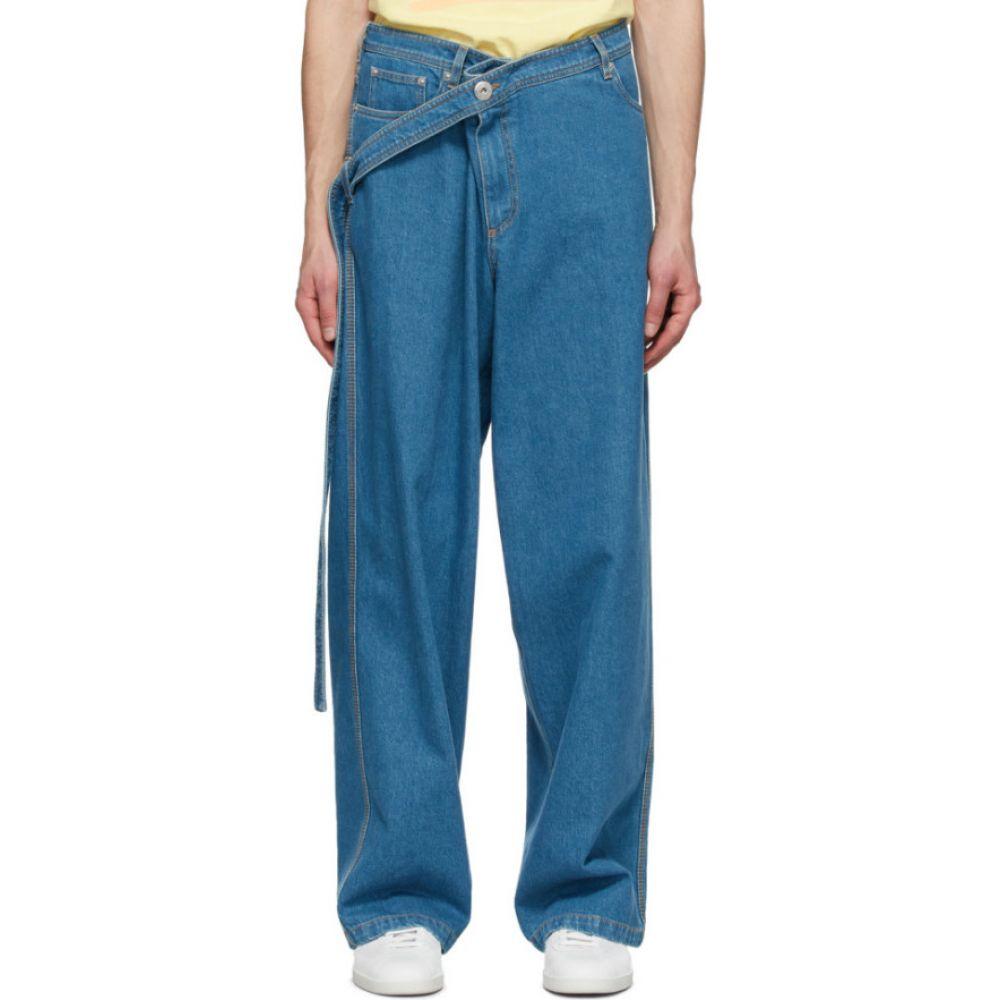 ランバン Lanvin メンズ ジーンズ・デニム ボトムス・パンツ【Blue Large Belted Jeans】Light blue