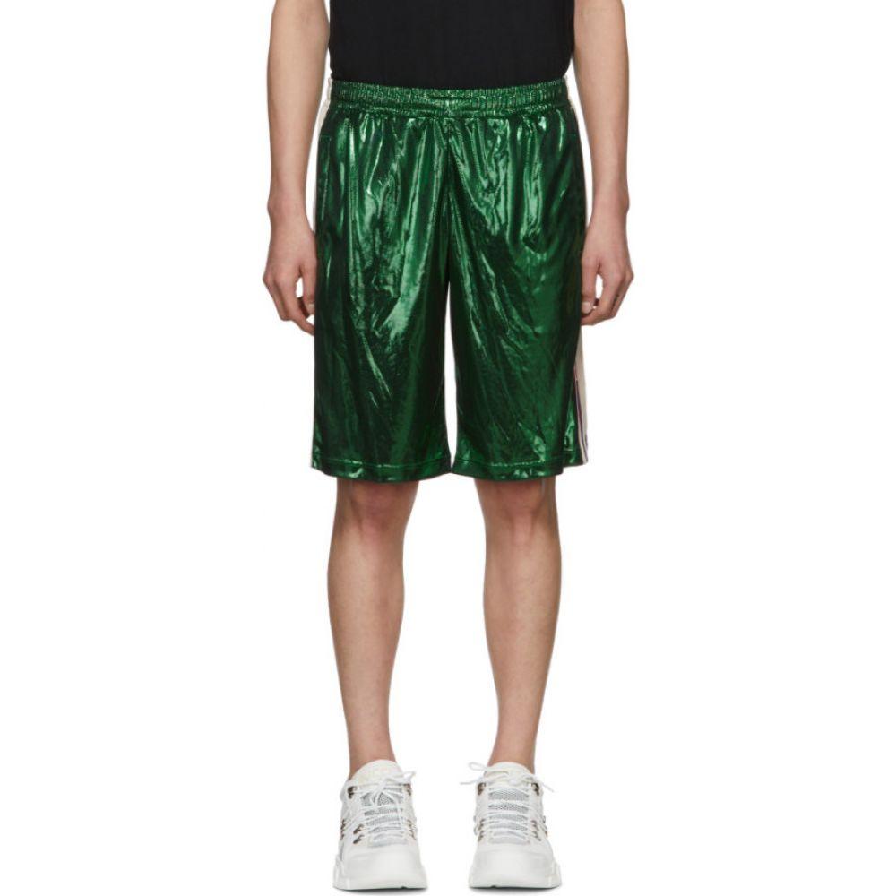 グッチ Gucci メンズ ショートパンツ ボトムス・パンツ【Green Laminated Shorts】