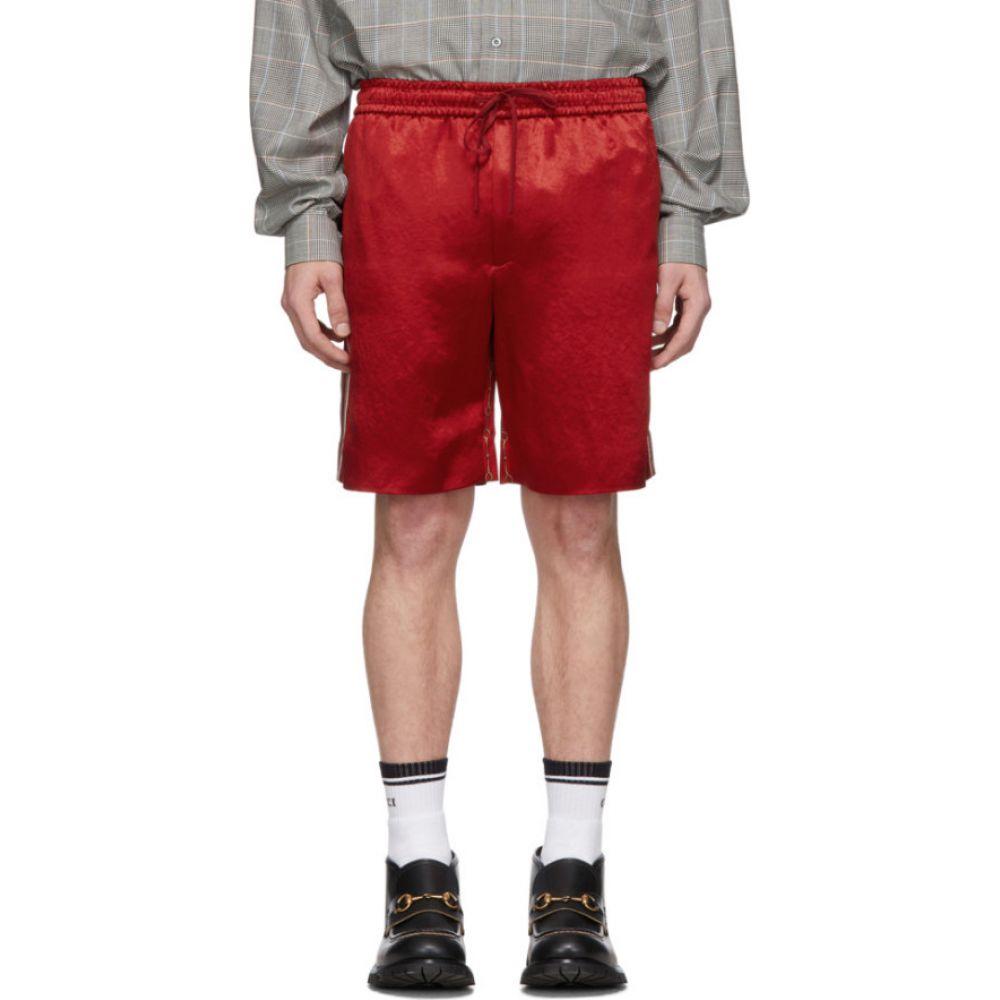 グッチ Gucci メンズ ショートパンツ ボトムス・パンツ【Red Chain Silk Shorts】Red