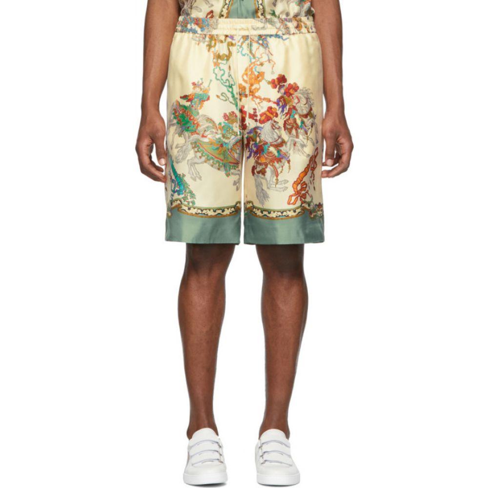 グッチ Gucci メンズ ショートパンツ ボトムス・パンツ【Off-White Silk Printed Shorts】