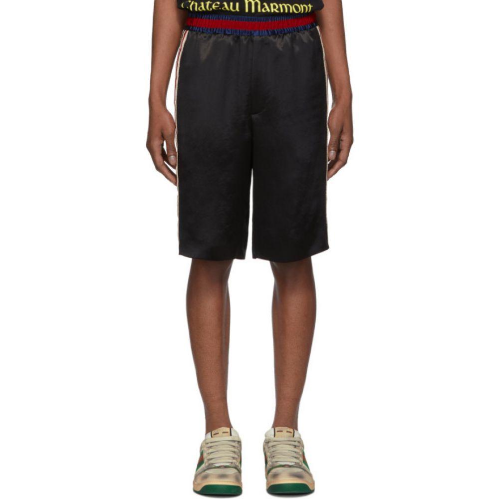 グッチ Gucci メンズ バスケットボール ショートパンツ ボトムス・パンツ【Black Basketball Shorts】