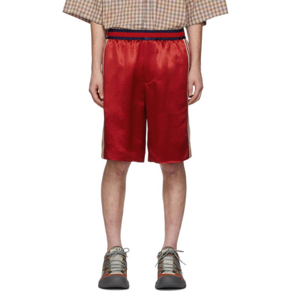 グッチ Gucci メンズ バスケットボール ショートパンツ ボトムス・パンツ【Red Silk Basketball Shorts】Red