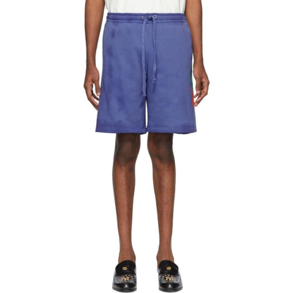 グッチ Gucci メンズ ショートパンツ ボトムス・パンツ【Blue Terry Logo Shorts】