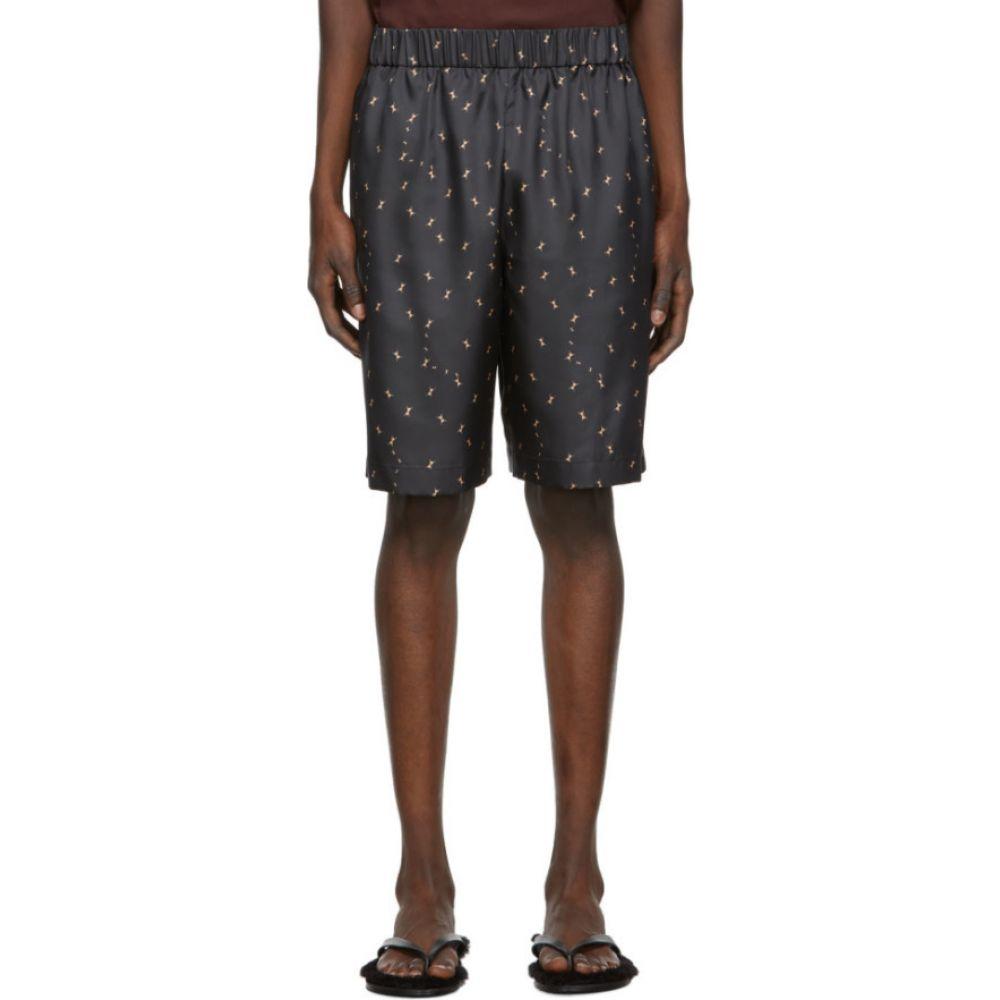ティビ Tibi メンズ ショートパンツ ボトムス・パンツ【SSENSE Exclusive Black Polka Dot Ant Shorts】Pearl black