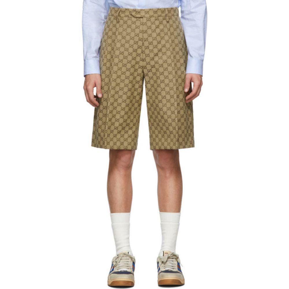 グッチ Gucci メンズ ショートパンツ バミューダ ボトムス・パンツ【Beige Canvas GG Bermuda Shorts】Camel