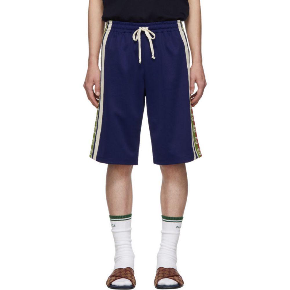 グッチ Gucci メンズ ショートパンツ ボトムス・パンツ【Blue Ribbon Logo Shorts】Blue