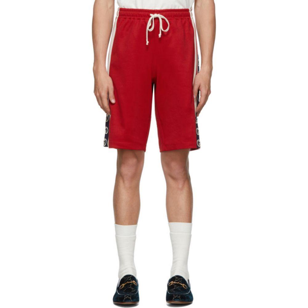 グッチ Gucci メンズ ショートパンツ ボトムス・パンツ【Red Jersey GG Ribbon Shorts】Red