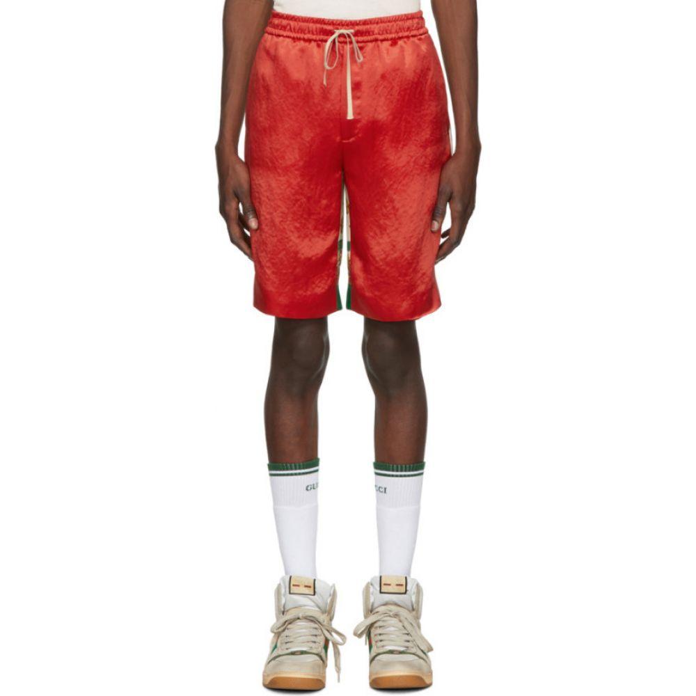 グッチ Gucci メンズ ショートパンツ ボトムス・パンツ【Red Bi-Material Print Shorts】Red