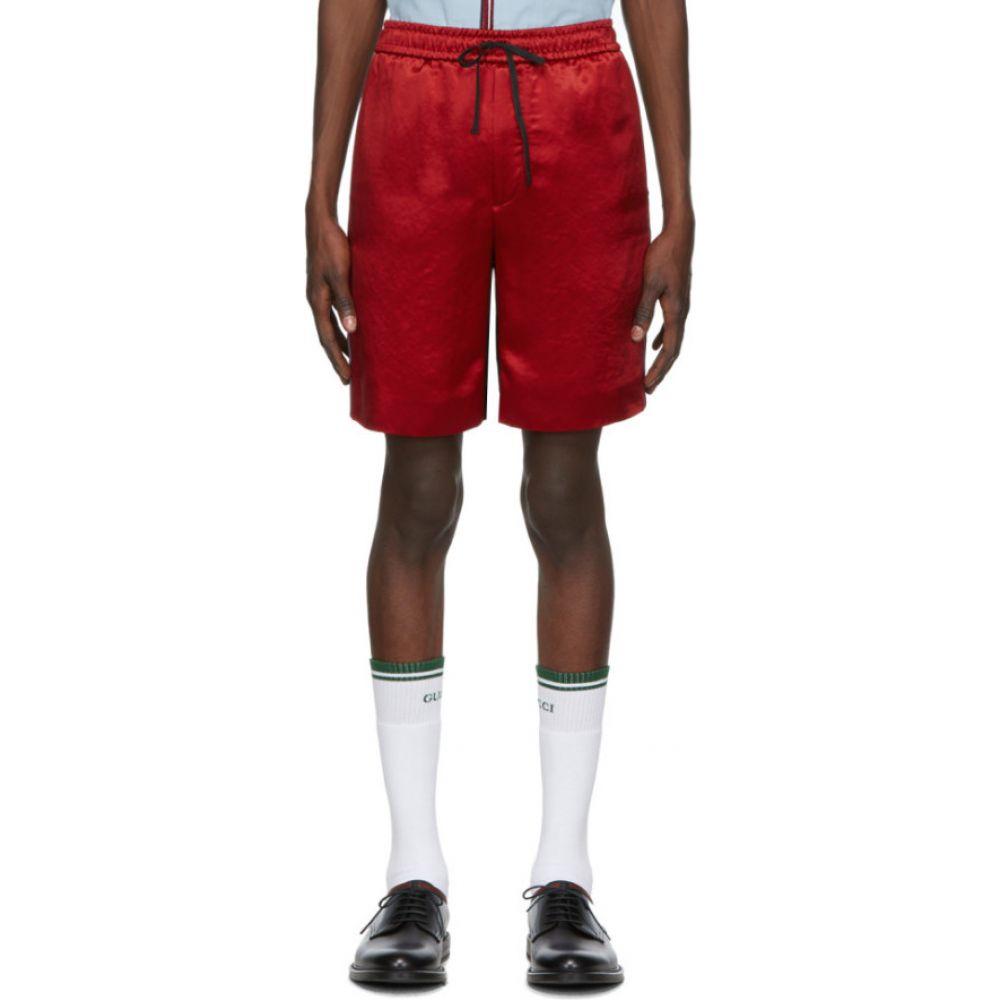 グッチ Gucci メンズ ショートパンツ ボトムス・パンツ【Red & Black GG Shorts】Red