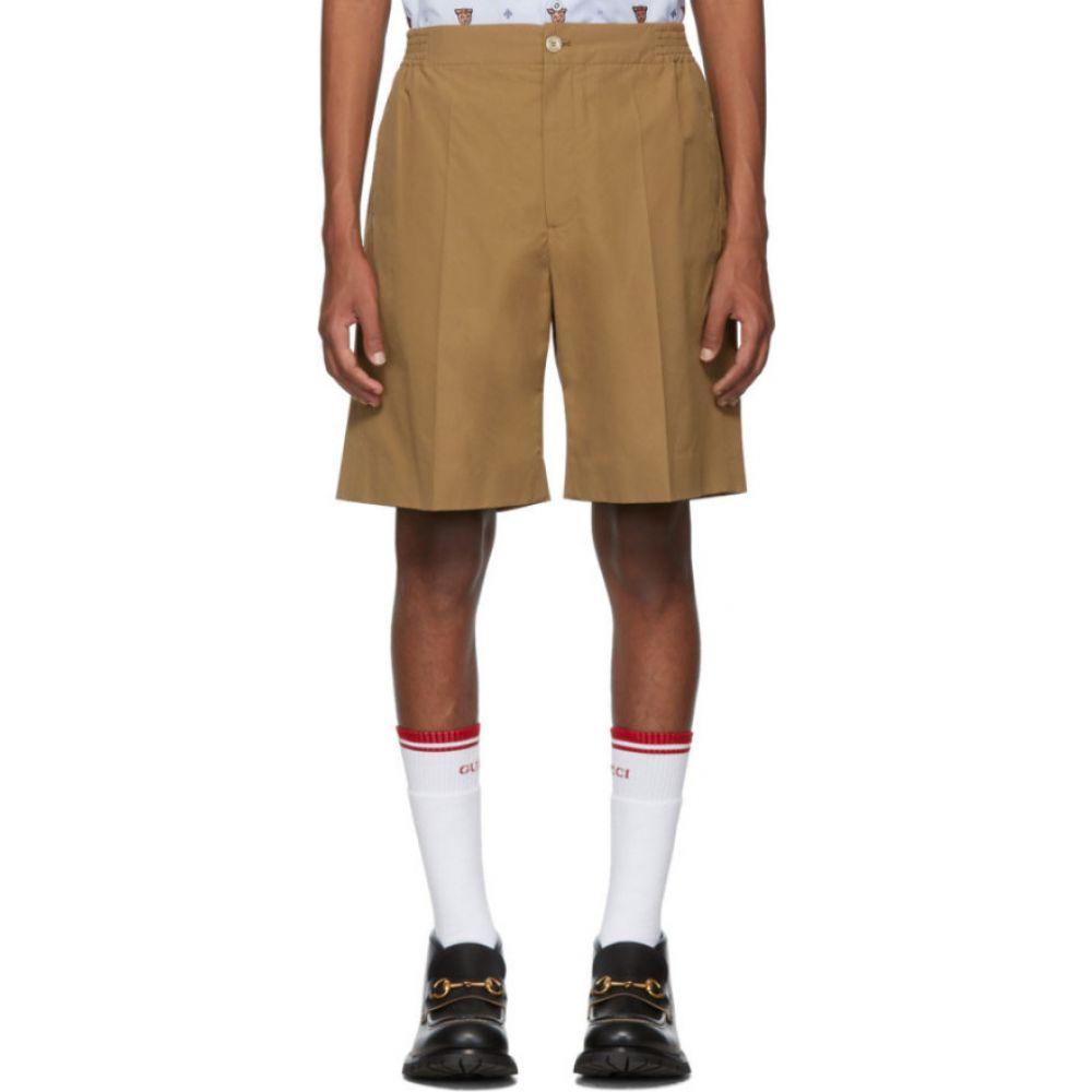 グッチ Gucci メンズ ショートパンツ ボトムス・パンツ【Tan Poplin Shorts】Khaki