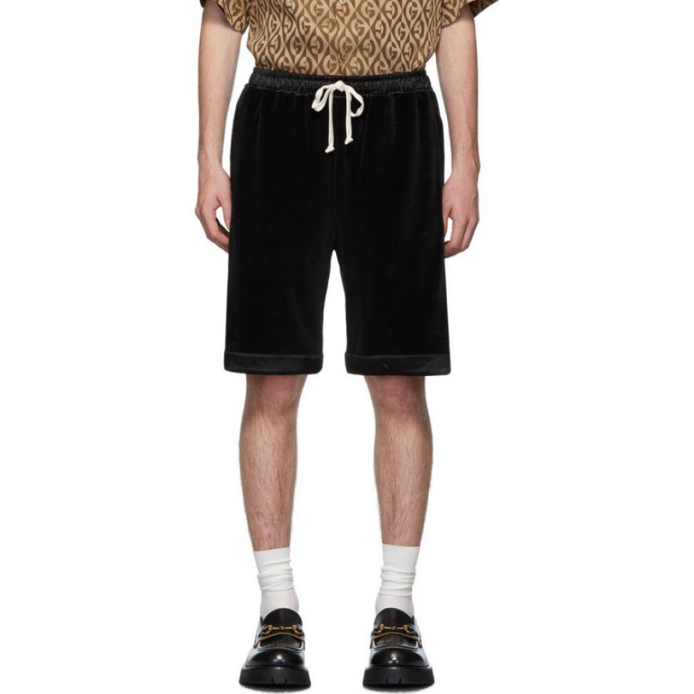グッチ Gucci メンズ ショートパンツ ボトムス・パンツ【Black Chenille Shorts】Black