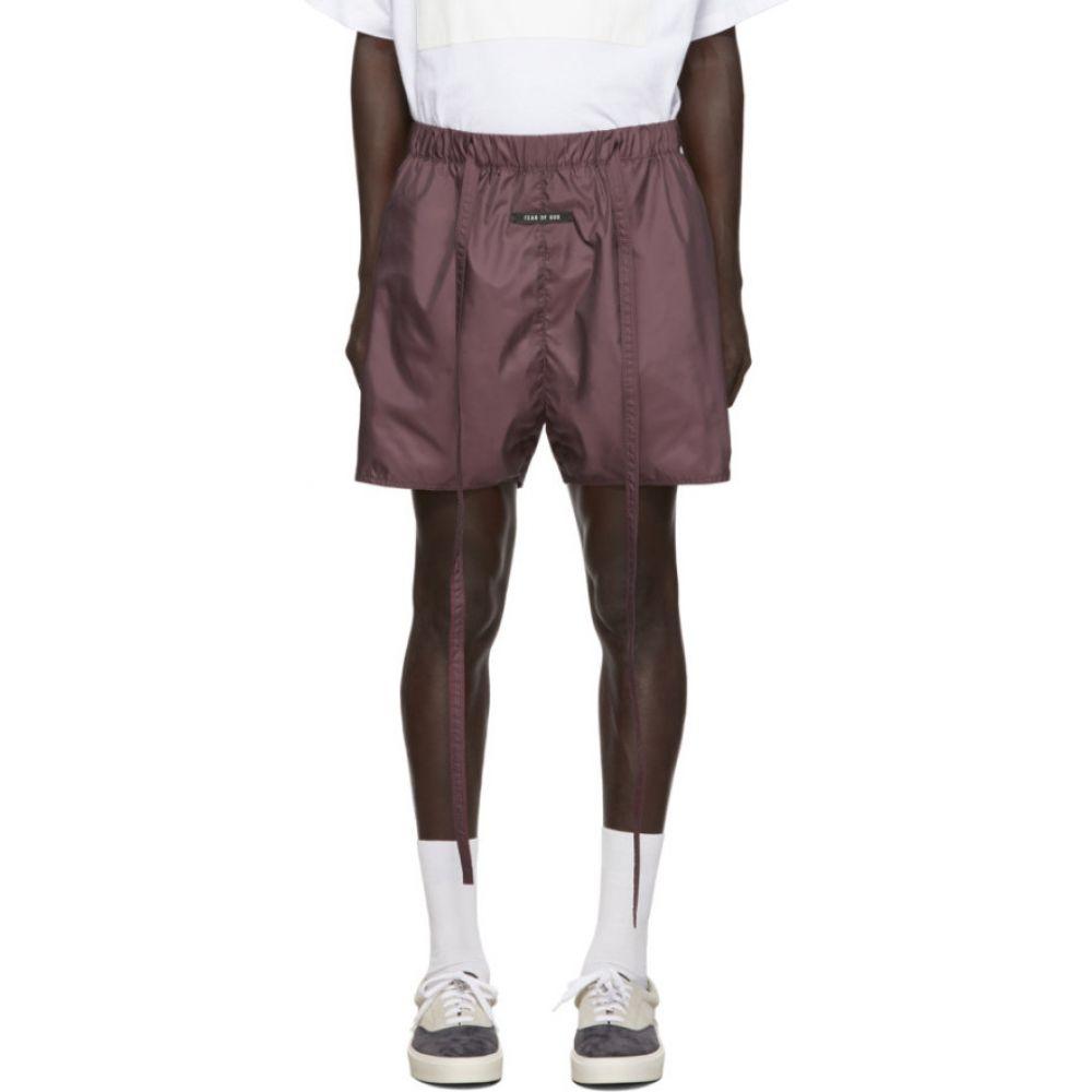 フィアオブゴッド Fear of God メンズ フィットネス・トレーニング ショートパンツ ボトムス・パンツ【Burgundy Military Physical Training Shorts】Merlot